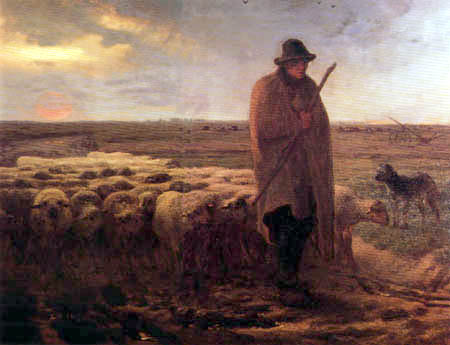 Shepherd Returns Jean Francois Millet